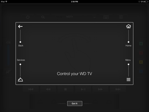 Wd tv remote on the app store ipad screenshot 2 sciox Gallery