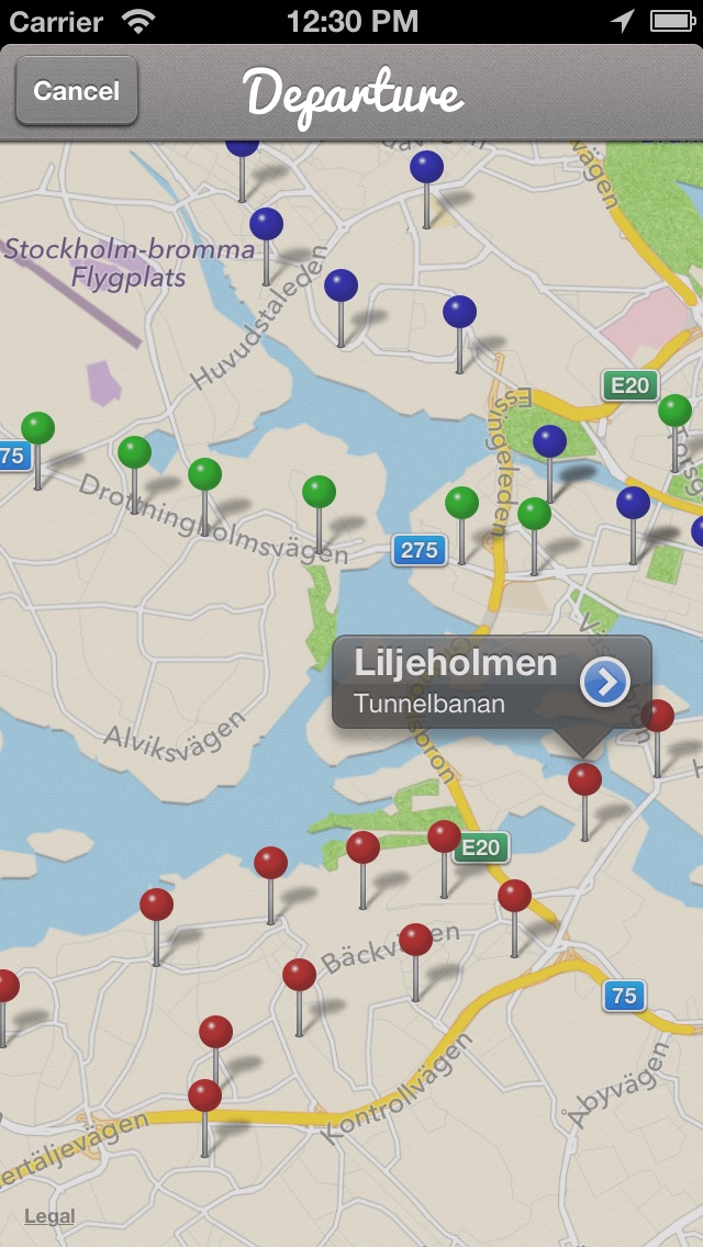 Uppgångar Stockholm iPhone