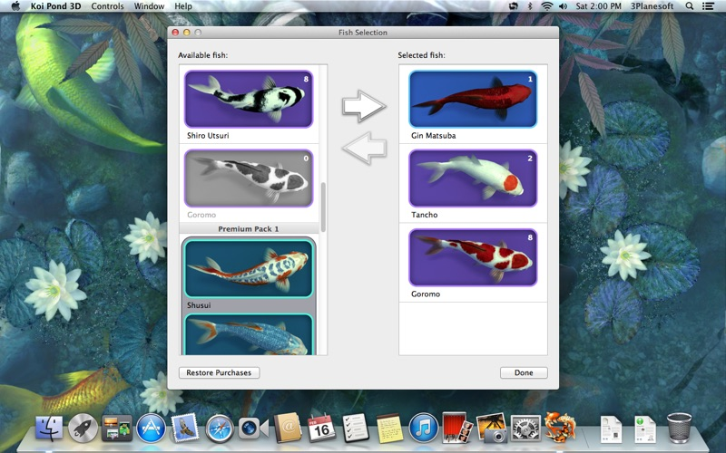 Koi pond 3d on the mac app store for Koi pond game