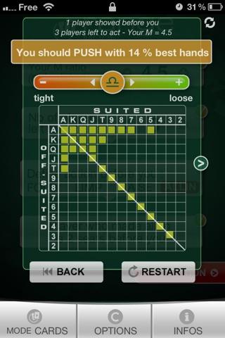 Push or fold poker app