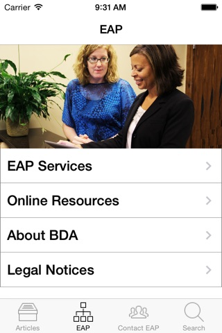 MLA EAP screenshot 3