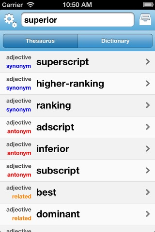 FreeSaurus - The Free Thesaurus! screenshot 2