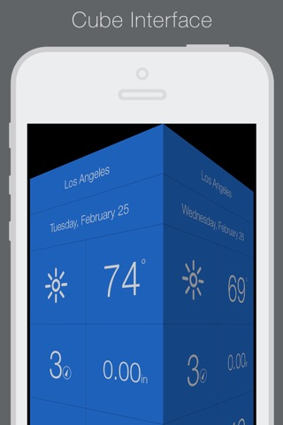 Weathercube - Gestural Weather screenshot 1