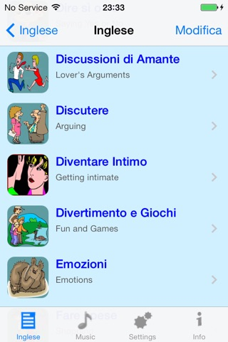 Inglese - Italian to English Translator and Phrasebook screenshot 3