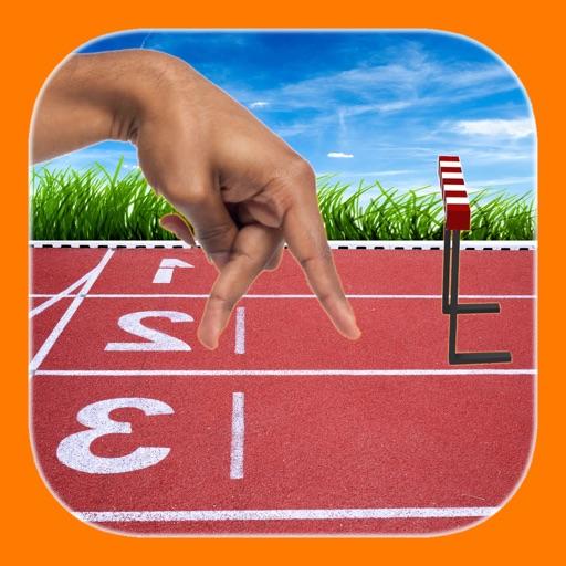 Finger hurdle run iOS App