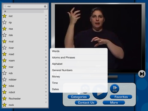 ASL Dictionary for iPad screenshot 3