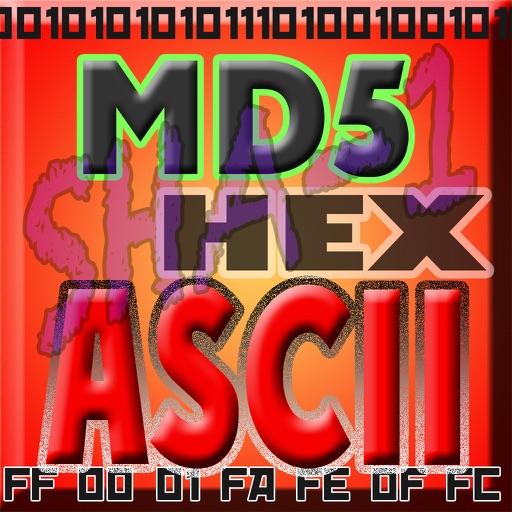 !ASCII HEX BASE64 MD5 SHA-1 BINARY текст конвертер утилита