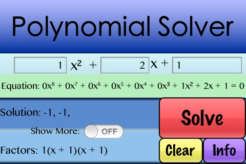 Factor Polynomials screenshot 3