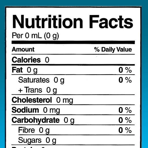 Nutrition Facts Calculator