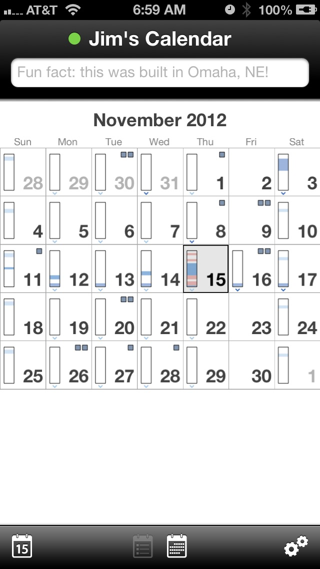 Screenshot of QuickCal - The natural language calendar for iOS3