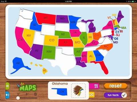 Kids Maps US Map Puzzle On The App Store - Map of us kids