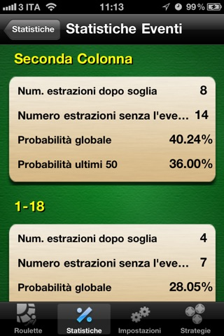 RouletteBetter - Odds Calculator and Betting Strategies for Roulette screenshot 2