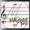 playpad pro. Music Theory Stave Instrument.