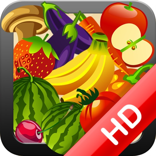 HD Fruit and Veggie Memory Match Free iOS App