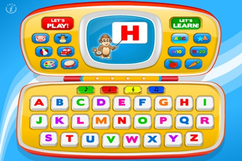 Magic Laptop Preschool All-In-One • Activity Kids Learning Toy Phone - TeachMe Farm and Zoo Animals, Colors, Shapes, Letters, Numbers, Vehicles, Alphabet, Toys, Fruits - Games for Baby, Toddler and Preschool Children by Abby Monkey® screenshot 2