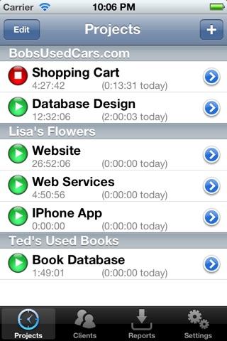 WorkTimer - The Smart Personal Time Clock screenshot 1