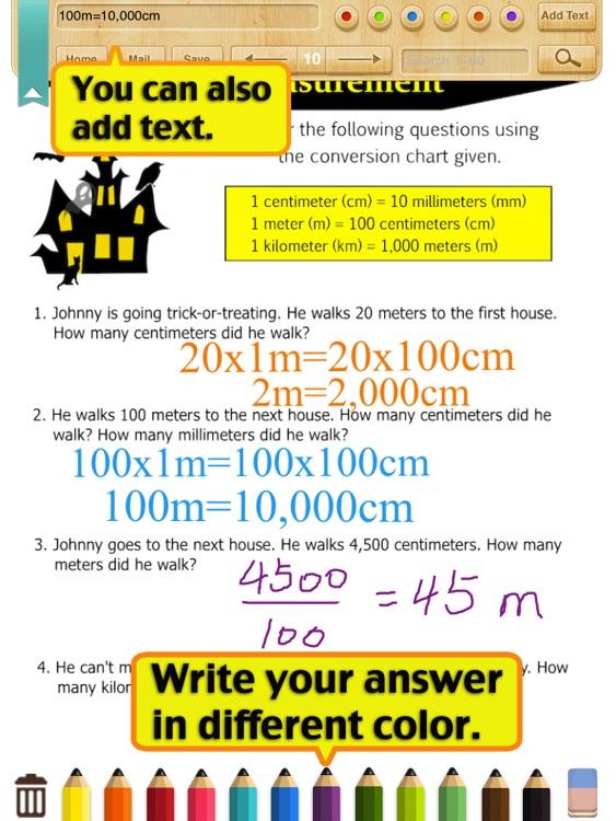 Kids Math Metric Measurement Worksheetsgrade 4 By Shixian Li