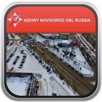 Map Nizhny Novgorod Obl Russia: City Navigator Maps