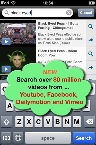 VideoTime for Facebook - Find, Play & Share Videos of your Friends Screenshot 1