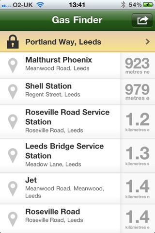 Gas Finder - Find your nearest Gas Stations Screenshot