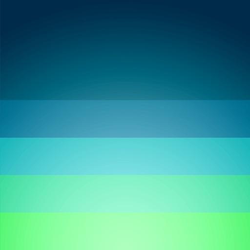 Blue – Beautifully minimal weather forecast