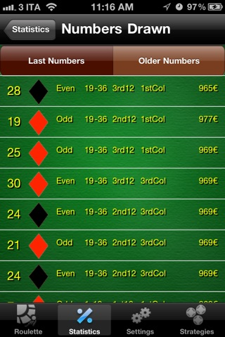 RouletteBetter - Odds Calculator and Betting Strategies for Roulette screenshot 3