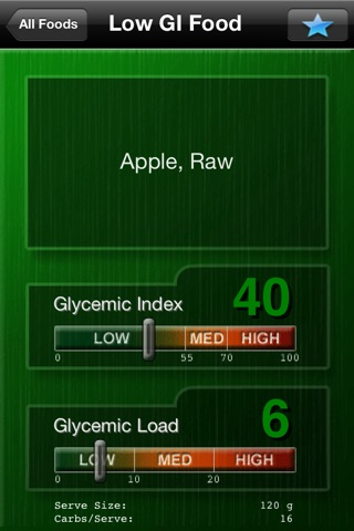A Low GI Diet - Glycemic Index Search screenshot 2