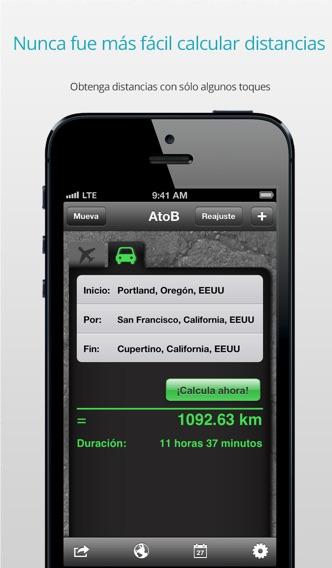 download AtoB Calculadora de Distancia Gratis—fácil y rápida medida de rutas en aire o en coche desde punto A hasta punto B para viajes y más apps 0