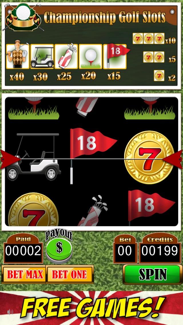 The slot machine golf