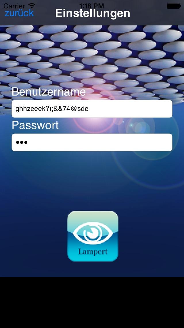 Screenshot von iControl24
