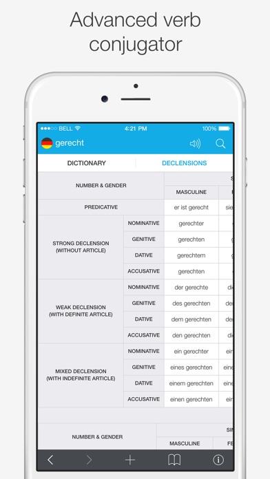 German – English Dictionary Screenshots
