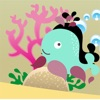 Attivo! Ombra Gioco Per i Bambini a Giocare e Imparare le Forme Con Gli Animali del Mare