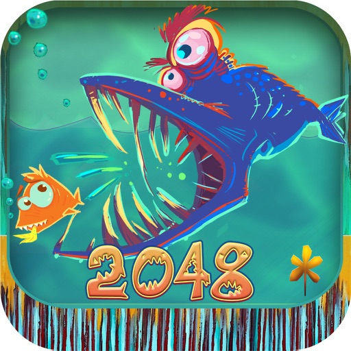 Predator 2048 puzzle plus - Fishing games for free iOS App