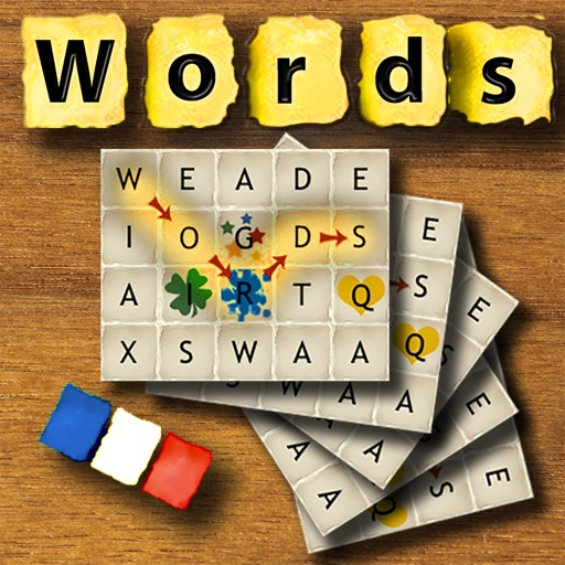 Words French - The rotating letter word search puzzle board game