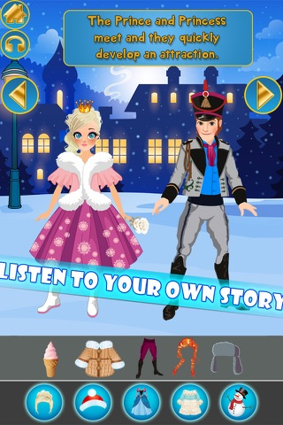 My Own Little Interactive Snow Princess Story Book Game Free App screenshot 3