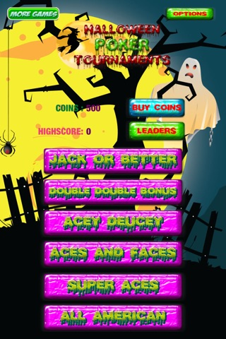 Halloween Poker Tournaments screenshot 4