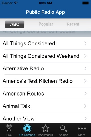 Public Radio App screenshot 3