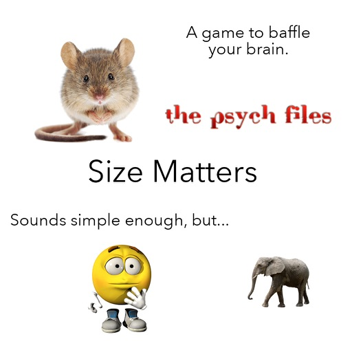 Size Matters - An Educational Brain Game to Tease Your Noggin! iOS App