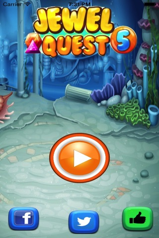 Jewel Quest Match Fun-Switch the Gem and complete the Amazing levels. screenshot 1
