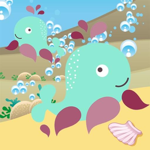 Attivo! Dimensionamento Gioco Per i Bambini a Giocare e Imparare Con Gli Animali del Mare