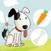 Aktiv-Spiel Für Kinder Über den Bauernhof - Tiere Füttern Lernen