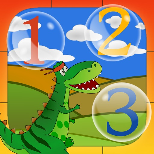 Dino Does PreSchool Math: Numbers and some ABC Fun Learning Games for Kids and Toddlers