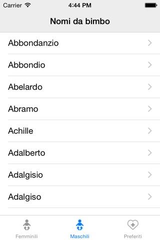 Nomi per tuo bambino screenshot 1