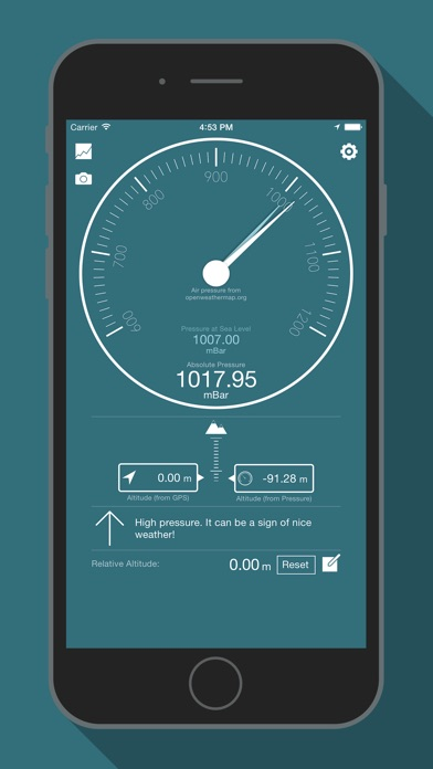 Bar o meter altimeter barometer app report on mobile for Application miroir pour iphone
