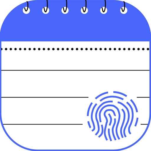 Touch Secure Notepad iOS App