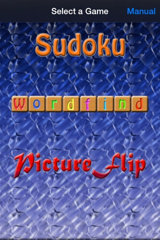 Game Pack Vol 1 - Sudoku, Wordfind & PictureFlip screenshot 1