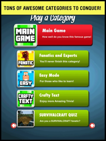 Screenshots of Pop Quiz Trivia - for Minecraft fans the best word guess game! for iPad