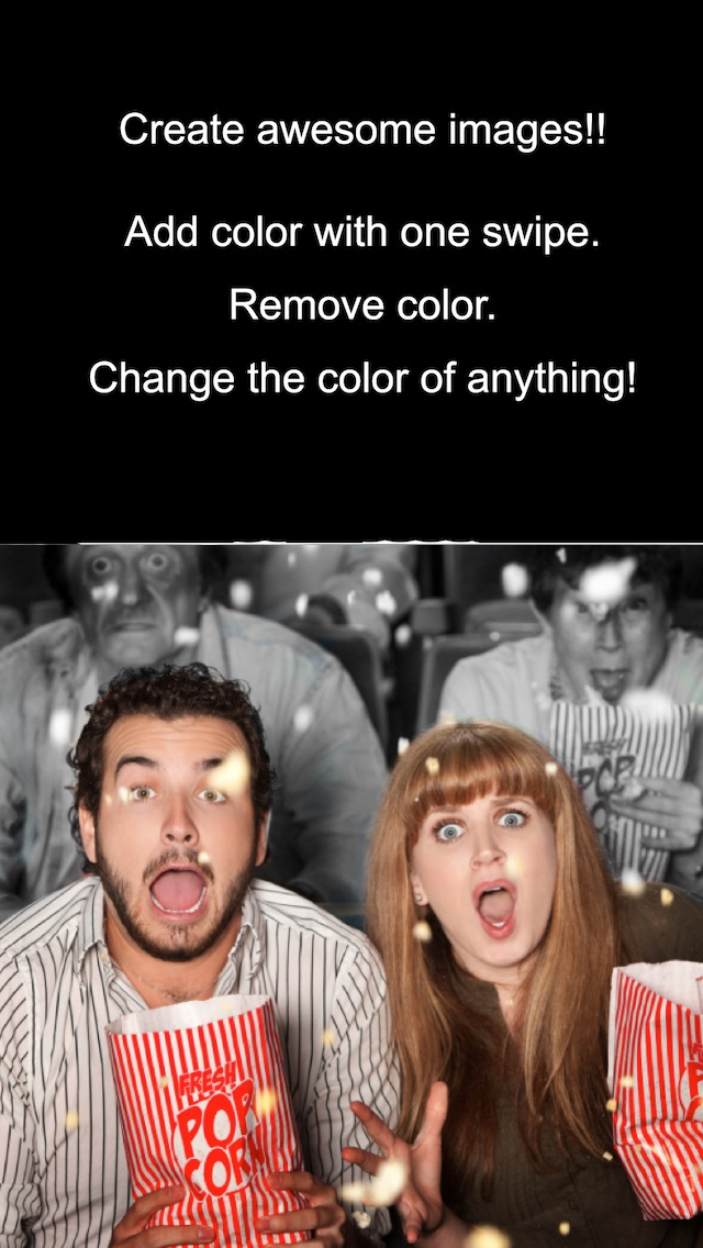 Screenshots of Color Effects - Recolor Pictures; Pop/Edit/Paint Photo Highlights into Twitter and Instagram for iPhone