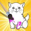 Ativo! Livro Para Colorir de Gatos Para As Crianças: Aprenda a Pintar o Gato