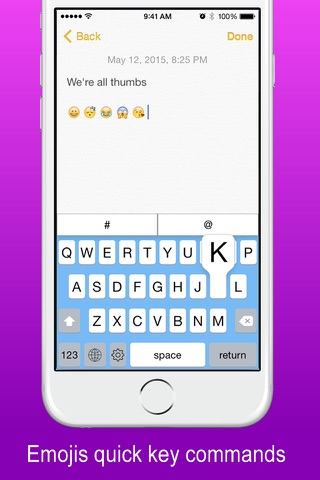 Thymble - Instagram Twitter Facebook & Periscope Social Keyboard Edition screenshot 2